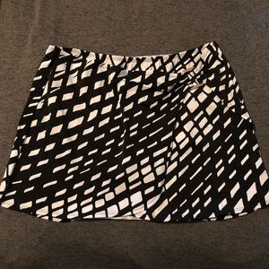 Black and White Swim Skirt